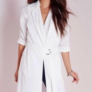 Missguided white coat
